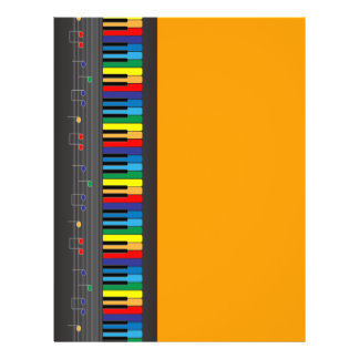 Colorful piano keyboard flyer