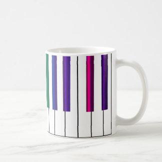 Colorful Piano Keyboard Music Mug
