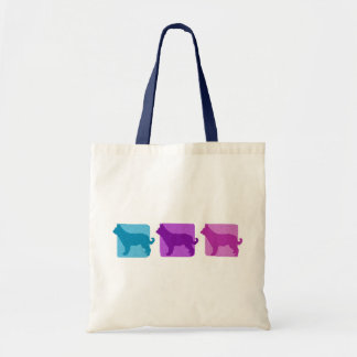 Colorful Picardy Shepherd Silhouettes Tote Bag