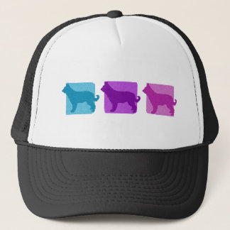 Colorful Picardy Shepherd Silhouettes Trucker Hat