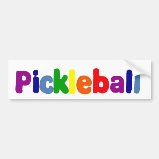 Colorful Pickleball Art Design Bumper Stickers