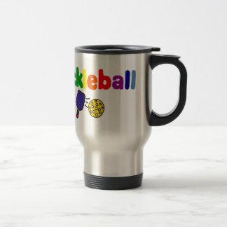 Colorful Pickleball Art Design Mug