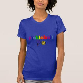 Colorful Pickleball Art Design Tee Shirt