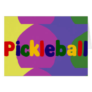 Colorful Pickleball Letters Art Design Card