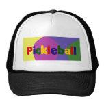Colorful Pickleball Letters Art Design Trucker Hat