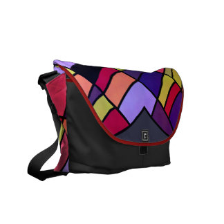 Colorful pieces messenger bag