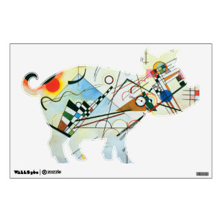 Colorful Pig Wall Sticker