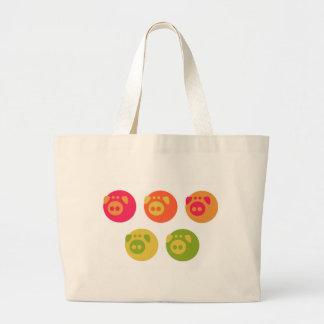 Colorful Piggies Bags