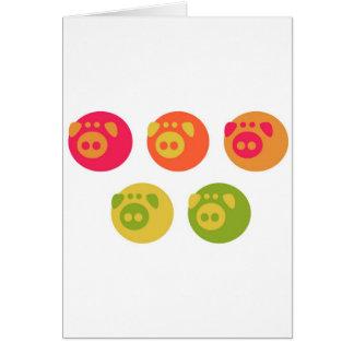 Colorful Piggies Cards