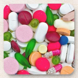 Colorful pills custom product beverage coaster