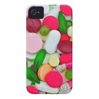 Colorful pills custom product Case-Mate iPhone 4 cases