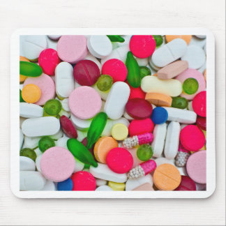 Colorful pills custom product mouse pad