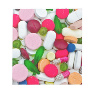 Colorful pills custom product notepad