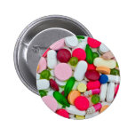 Colorful pills custom product pinback button