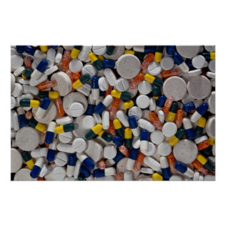 Colorful Pills Poster