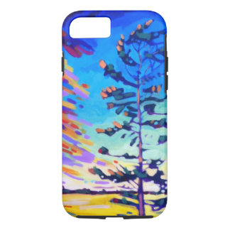 Colorful Pine Tree Painting iPhone 8/7 Case