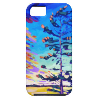 Colorful Pine Tree Painting iPhone SE/5/5s Case