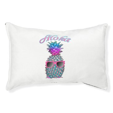 Hawaiian Themed Colorful Pineapple Hawaiian Aloha Pet Bed