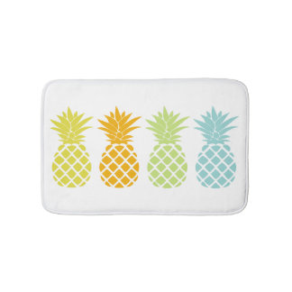 Colorful Pineapples Bath Mat