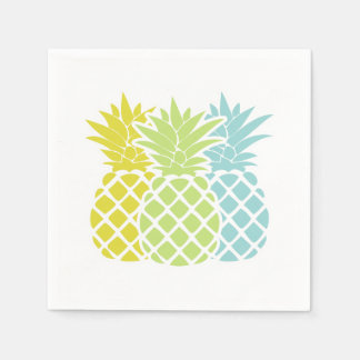 Colorful Pineapples Paper Napkin