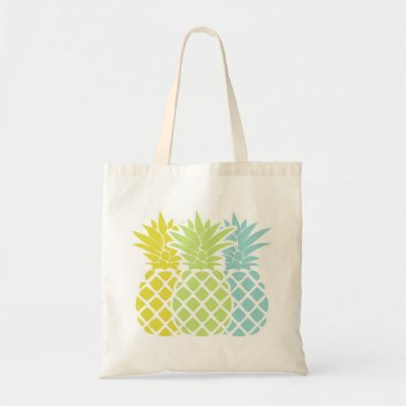 heartlocked Colorful Pineapples Tote Bag
