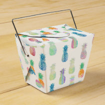 colorful pineapples tropical pattern favor box