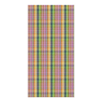 Colorful pink abstract plaid pattern card