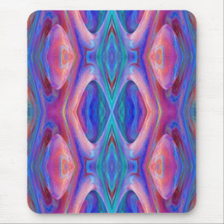 Colorful Pink and Turquoise Abstract Mouse Pad