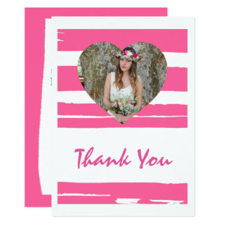 Colorful Pink and White Watercolor Photo Graduati Card
