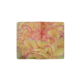 Colorful Pink and Yellow Carnation Flower Pocket Moleskine Notebook Cover With Notebook
