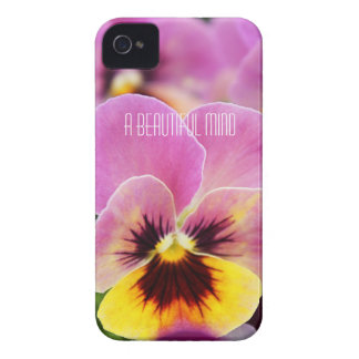 Colorful Pink and Yellow Pansy Flower iPhone 4 Case