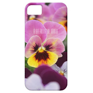 Colorful Pink and Yellow Pansy Flower iPhone SE/5/5s Case