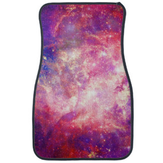 Colorful Pink & Blue Galaxy Nebula Floor Mat