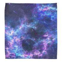 Colorful pink blue galaxy nebula pattern bandana