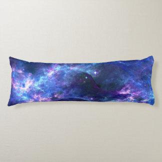 Colorful pink blue galaxy nebula pattern body pillow