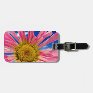 Colorful Pink Daisy Bag Tag