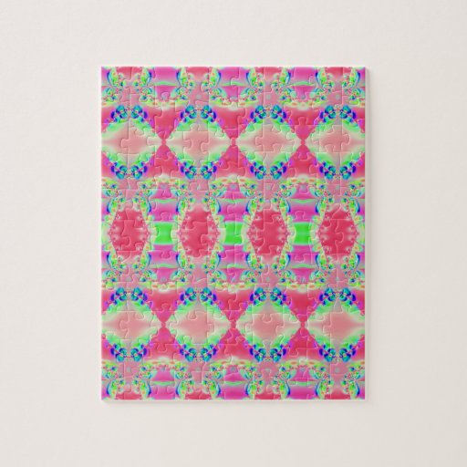 colorful pink design jigsaw puzzle