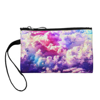 Colorful Pink For Laura Key Coin Clutch