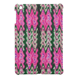 Colorful Pink Green Abstract Pattern iPad Mini Cover
