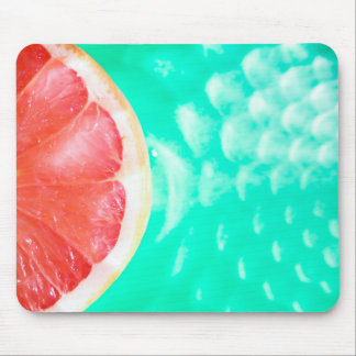 Colorful Pink Green Fruit Trendy Mouse Pad