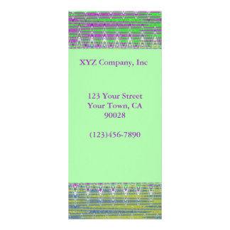Colorful pink green yellow blue Pattern Design Rack Card