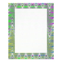 Colorful pink green yellow blue pattern flyer