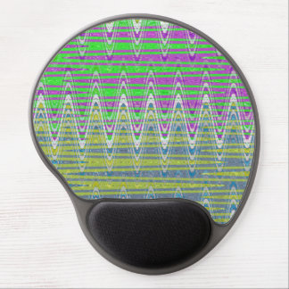 Colorful pink green yellow blue pattern gel mouse pad