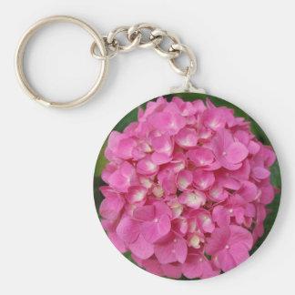 Colorful Pink Hydrangea Flower Petal Floral Key Chains