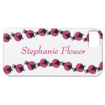 Colorful Pink Lady Bug iPhone 5 Case