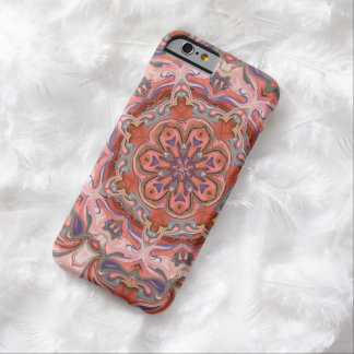 Colorful Pink Mandala iPhone6 Case Barely There iPhone 6 Case