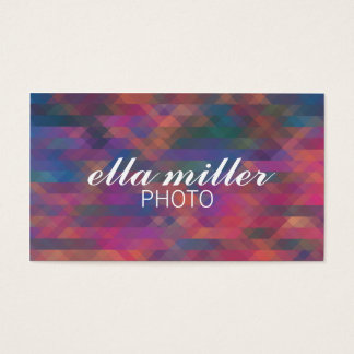 Colorful Pink Multicolored Geometric Business Card