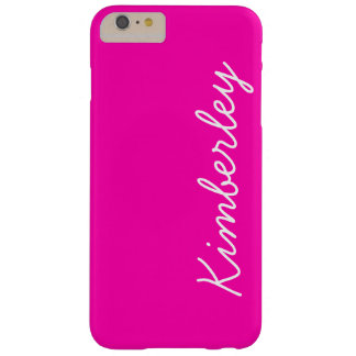 Colorful Pink Neon Monogram Trendy Fashion Colors Barely There iPhone 6 Plus Case
