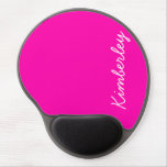 Colorful Pink Neon Monogram Trendy Fashion Colors Gel Mouse Pad