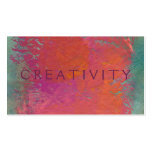 Colorful pink orange modern art painting customize business card